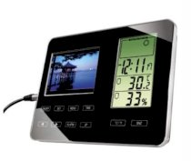 Khung ảnh kỹ thuật số Hama Digital Photo Frame with weather station 3.5 inch (00090918)