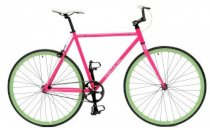 Critical Cycles Fixed-Gear Single-Speed Bicycle - Pink Celeste