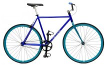 Critical Cycles Fixed-Gear Single-Speed Bicycle - Blue + Aqua