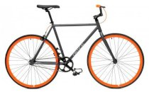 Critical Cycles Fixed-Gear Single-Speed Bicycle - Gray+Orange