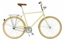 Critical Cycles Diamond Frame Urban Commuter Bicycle Single Speed CREAM