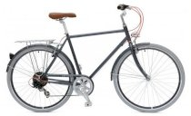 Critical Cycles Diamond Frame Urban Commuter Bicycle Seven Gears GRAPHITE