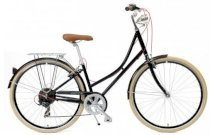Critical Cycles Step-Thru Urban Commuter Bicycle Black Seven Speed