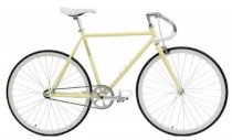 Critical Cycles Fixed-Gear Single-Speed Pista Bicycle - Cream