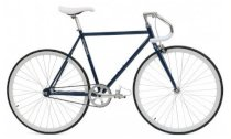 Critical Cycles Fixed-Gear Single-Speed Pista Bicycle - Midnight Blue