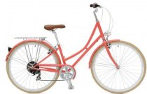 Critical Cycles Step-Thru Urban Commuter Bicycle - Coral 7 speed