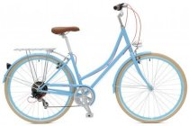 Critical Cycles Step-Thru Urban Commuter Bicycle - Light Blue 7 speed