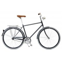 Critical Cycles Diamond Frame Urban Commuter Bicycle Single Speed GRAPHITE