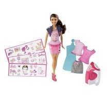 Barbie Iron On Style Feature Doll