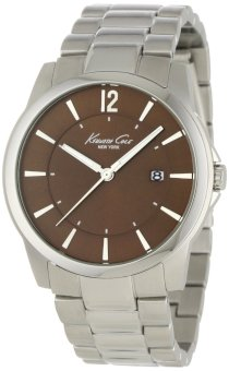 Kenneth Cole New York Men's KC9007 Classic Round Analog Tobacco Brown Dial Watch