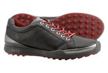 ECCO Men's Biom Hybrid Golf Shoes (Black/Brick)