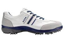 ECCO Men's Cool III Hydromax Golf Shoes - Concrete/White/Mazarine Blue