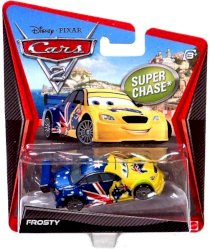 Disney Pixar Cars 2 Exclusive Ultimate Super Chase 1:55 Diecast Frosty By Mattel