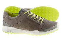 ECCO Men's BIOM Hybrid Golf Shoes - Warm Grey/Lime Punch