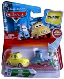 Disney Pixar Cars Guido With Rollers And Tray / Luigi With Bucket Chase 1:55 Scale Diecast