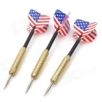 United States Flag Style Sharp Stainless Steel Darts - Multicolor (3 PCS)