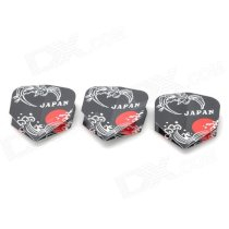 PET Plastic Flying Bird Japan Pattern Dart Tail Wing - Black + White + Red (3 PCS)