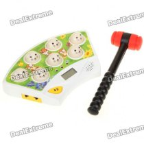 "1.4"" LCD Whack a Mole Game Hit Hamster Toy with Hammer (3 x AAA)"