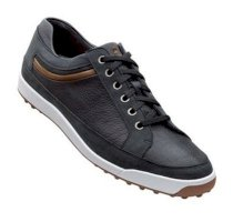 Footjoy Contour Casual Black Leather with Taupe Accent