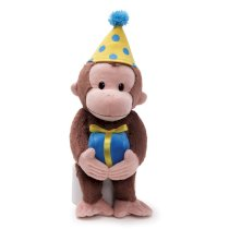 "Gund Curious George Dressed for a Birthday 14"" Plush"