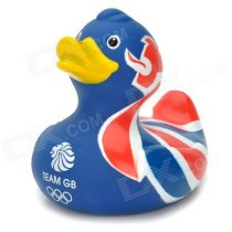 British Flag Pattern Funny Floating Duck Bath Toy for Kids - Blue + Red + More