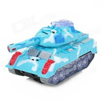 265 Armor Tiger Plastic Rotary Tank Toy for Kids - Blue (3 x AA)