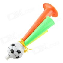 2014 Brazil World Cup Mini Fans Horn Three Tubes Speaker with Strap (Large) - Red + Green + Yellow