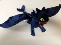 """How to Train Your Dragon Night Fury 17 Inch Plush Poseable 21"""" Wing Span"""