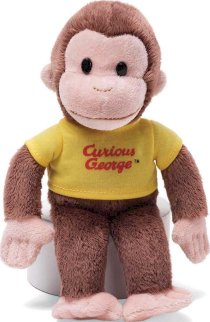 Gund Curious George with Yellow Shirt, 8""