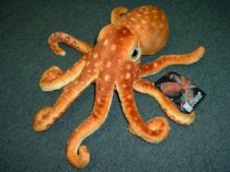 """Plush Octopus 13,5"""" by Fiesta (1 piece) - Colors may vary"""