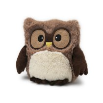 "Hooty Owl Brown - 10"" Cozy Plush Heatable Lavender Scented Bedtime Soft Toy"