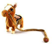 My Walking Pony Walk Along Toy Stuffed Plush Pony Toy, Realistic Walking Actions with Horse Sounds and Music (Colors May Vary)