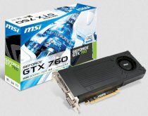 MSI N760-2GD5/OC (NVIDIA GeForce GTX 760, 2GB GDDR5, 256-bit, PCI Express x16 3.0)