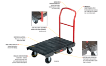 Xe đẩy tay Heavy-duty platform trucks Rubbermaid FG440300