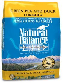 Natural Balance L.I.D. Limited Ingredient Diets Green Pea and Duck Dry Cat Formula