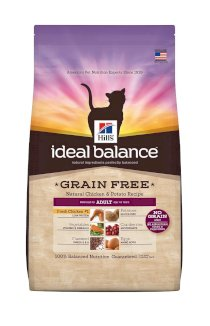 Hill's Ideal Balance Grain Free Natural Chicken and Potato Recipe Adult Cat Dry Food Bag
