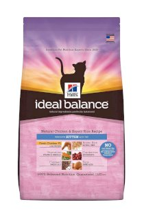 Hill's Ideal Balance Natural Chicken and Brown Rice Recipe Kitten Dry Cat Food Bag