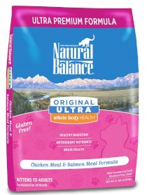 Natural Balance Dry Cat Food, Ultra Premium Whole Body Health Formula, 15 Pound Bag