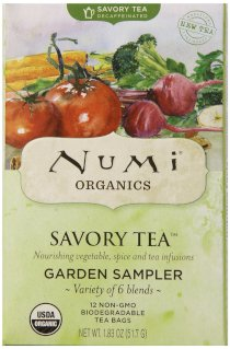 Numi Organic Savory Tea Garden Sampler Pack, 12 Count (Total Net Wt. 1.83 oz)