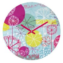 DENY Designs Rachael Taylor Snowflake Stems Wall Clock