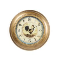"""Ashton Sutton 14"""" Provence Rooster Wall Clock"""