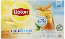 Lipton Black Tea, Cold Brew, Glass Size, Tea Bags, 50 Count (Pack of 6)