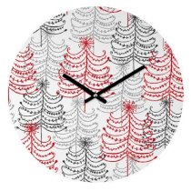 DENY Designs Rachael Taylor Doodle Trees Wall Clock