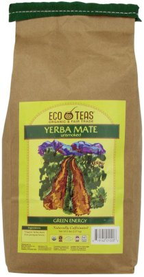 EcoTeas Organic Yerba Mate Loose Tea Cut, Pure Leaf, 5-Pound