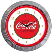 "Neonetics Drinks 15"" Coca Cola 1910 Classic Wall Clock"
