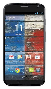 Motorola Moto X XT1058 16GB Black front Bamboo back for AT&T