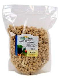 Organic Raw Cashews - 2.5 Lbs - Whole, Non-GMO: Great for Making Cashew Butter, Cashew Milk, Cooking & Recipes, More