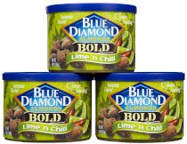 Blue Diamond Bold Almonds, Can, Lime 'n Chili 6 oz (Pack of 3)