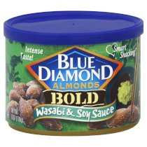 Blue Diamond, Almonds, Bold Wasabi & Soy, 6oz Can (Pack of 2)
