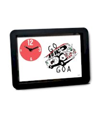 Bluegape Red And Black Plastic Eduhive Creative Studio Go Goa Table Clock